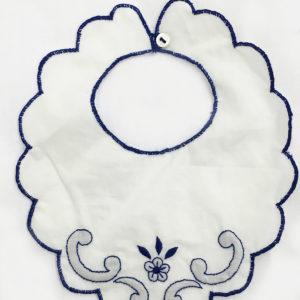 Bavaglino neonati con decorazione fiore