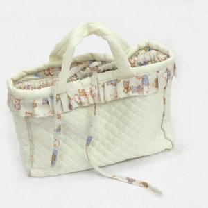 Borsa clinica neonato per mamma con riccio in tessuto stampato