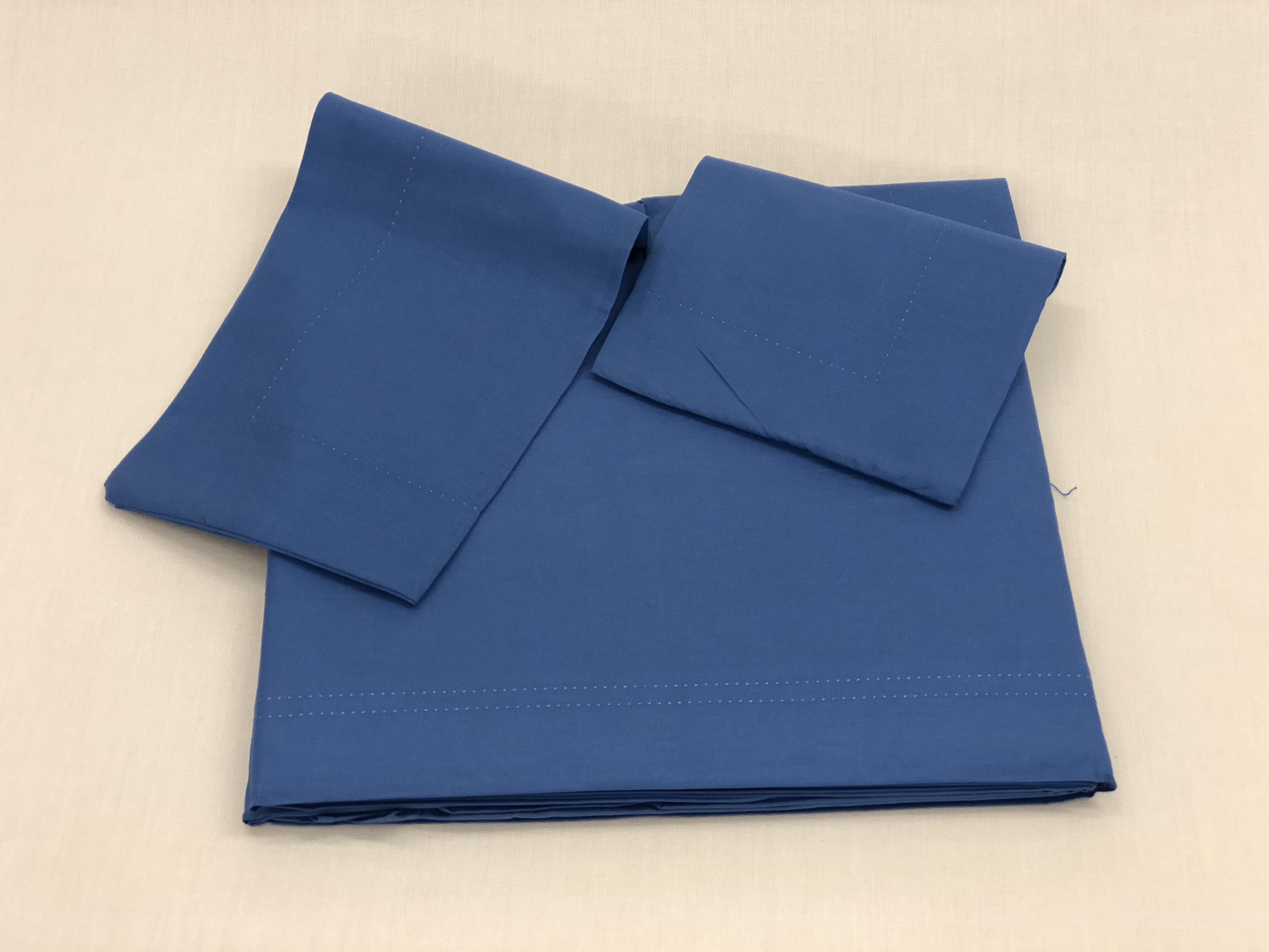 Lenzuola Matrimoniali Azzurre.Lenzuola Blu Prestige